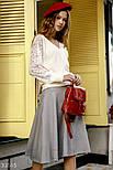 Трикотажная расклешенная юбка, фото 2