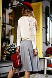 Трикотажная расклешенная юбка, фото 3