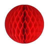 Шар соты (15см) красный