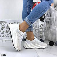 Кроссовки женские белые под бренд 886, фото 1