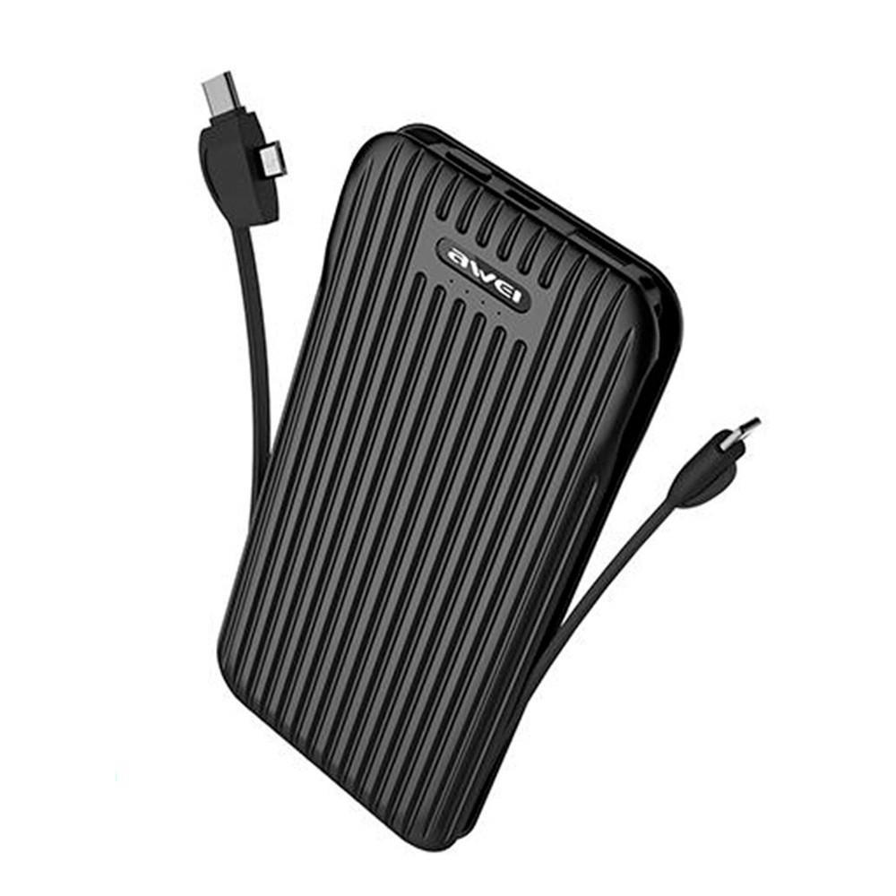 Портативная Батарея Awei P80K (10000mAh) Black