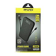 Портативная Батарея Awei P80K (10000mAh) Black, фото 2