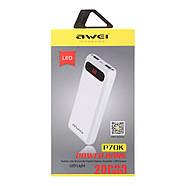 Портативная Батарея Awei P70K (20000mAh) White, фото 2