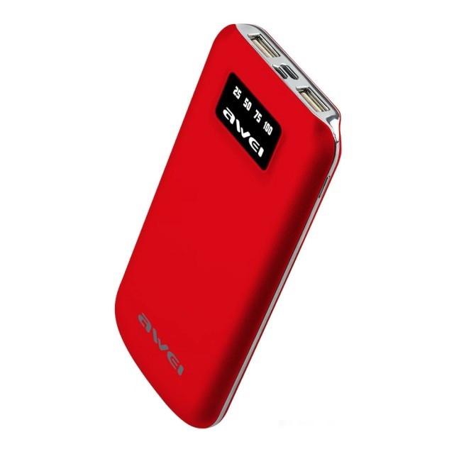 Портативная Батарея Awei P50K (10000mAh) Red
