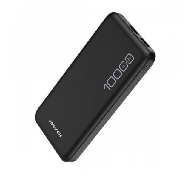 Портативная Батарея Awei P28K (10000mAh) Black