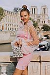 Короткая юбка-трапеция розовая, фото 2