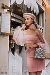 Короткая юбка-трапеция розовая, фото 3