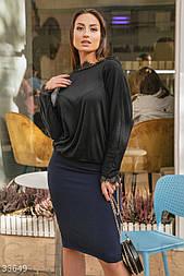 Сдержанная юбка прямого кроя темно-синяя