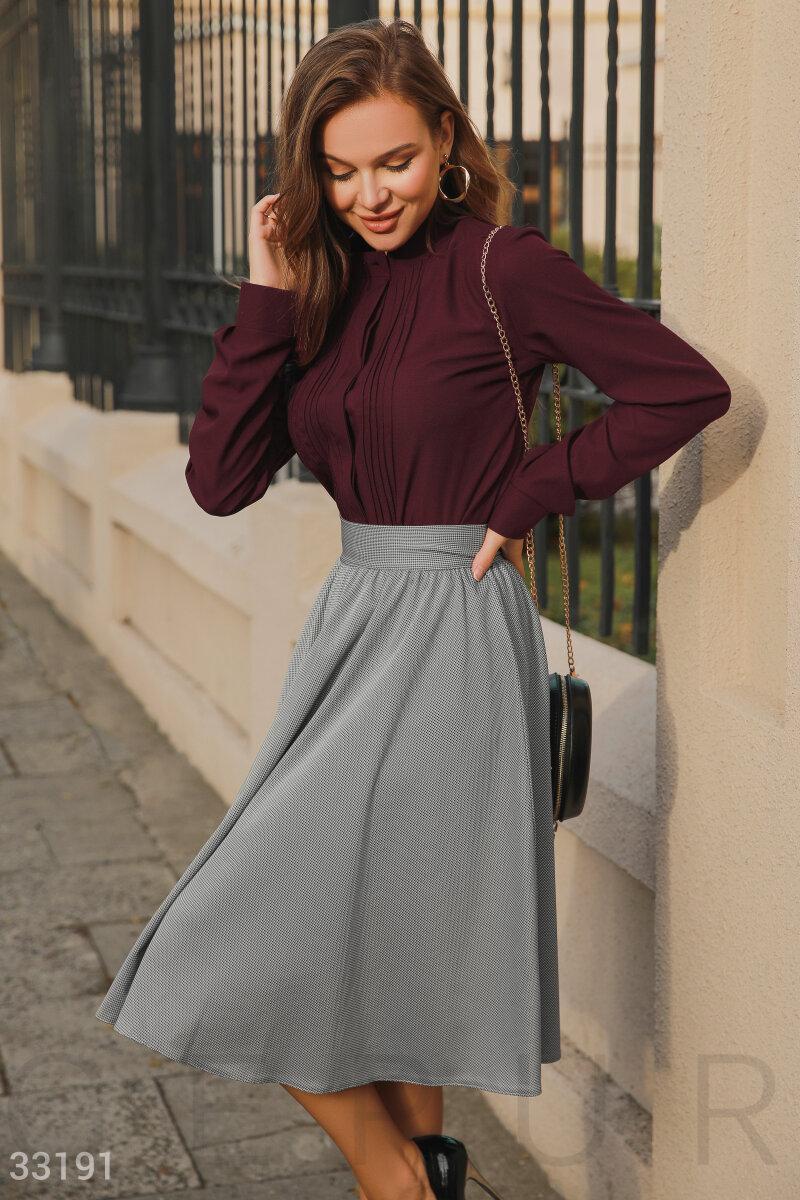 Легкая расклешенная юбка-миди