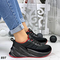 Кроссовки женские черные под бренд 897, фото 1
