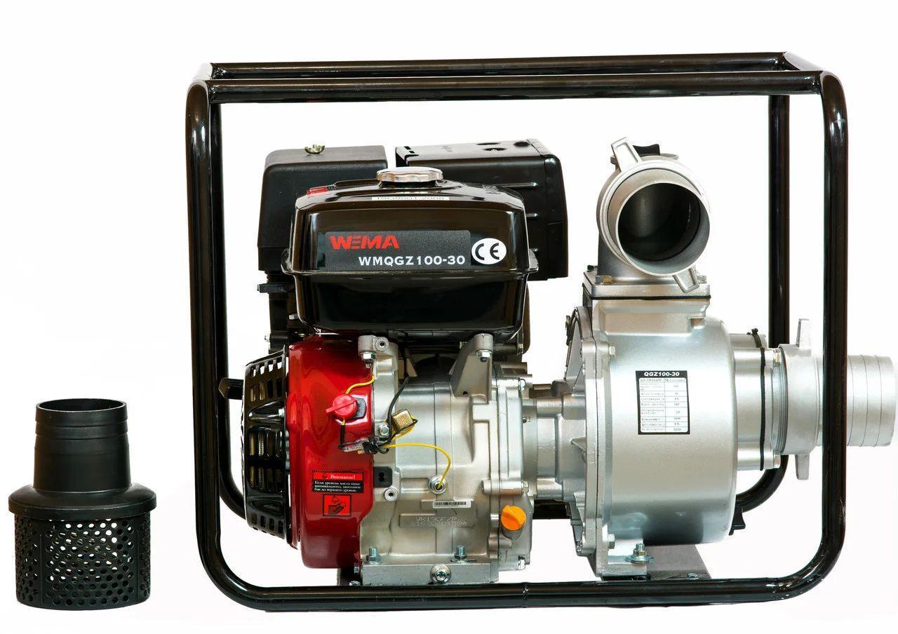 Мотопомпа бензинова Weima WMQGZ100-30(Бензин, двиг. WM190F, 16,0 л. с. Патрубок 100мм, 120куб/год)