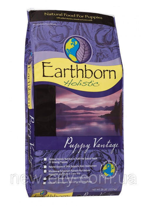 Earthborn Holistic Dog Puppy Vantage для щенков всех пород (курица и белая рыба) 12.7кг
