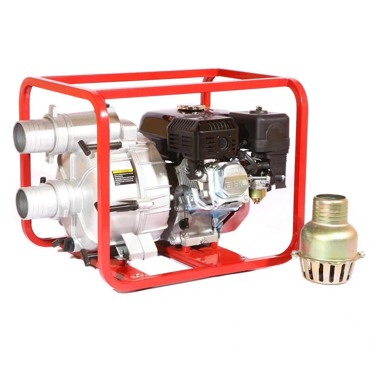 Мотопомпа бензиновая Weima WMPW80-26  (бензин, для грязной воды, Патрубок 80мм) Бесплатная доставка