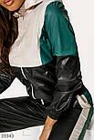 Утепленный повседневный костюм кремово-черный, фото 3