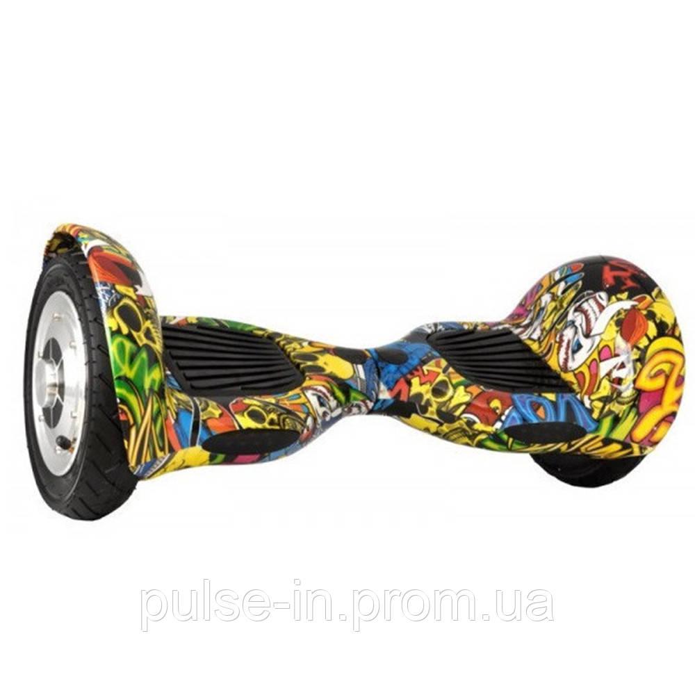 "Гироскутер Smart Balance Wheel 10"" i10  №3 Граффити черепа(АКБ Samsung) APP+BT"