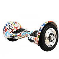 Гироскутер Smart Balance Wheel10 i10 №7 Граффити на белом (АКБ Samsung) APP+BT