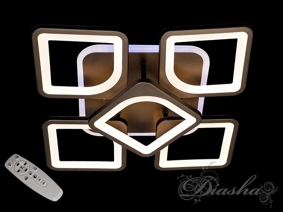 Потолочная LED-люстра с диммером и подсветкой MX2281/4+1S BK LED 3color dimmer