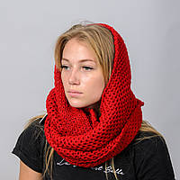 Вязанный снуд-хомут Ажур Nord Красный wsnazh14, КОД: 390864