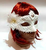 Венецианская маска Загадка белая