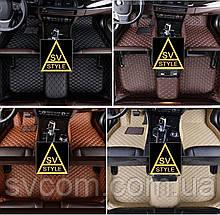 Килимки на Audi Q7 оригінальні 3D з Екошкіри (2005-2015) Ауді Ку7 Тюнінг