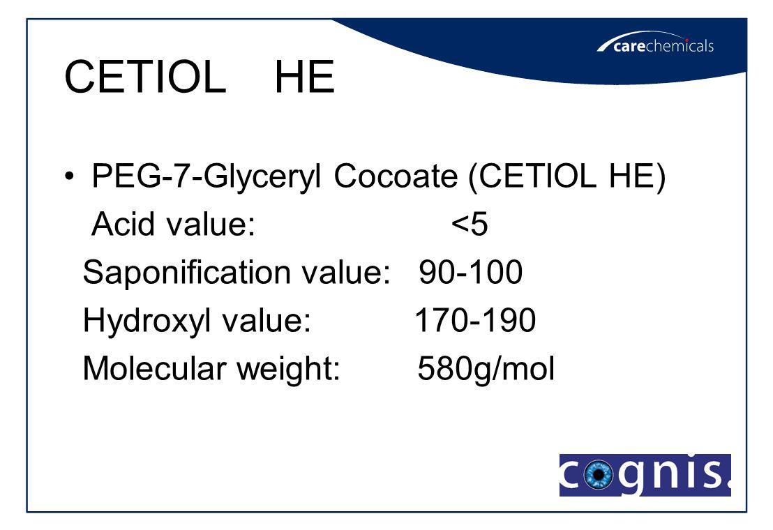 Cetiol HE (ПЭГ-7), Glyceryl Cocoate