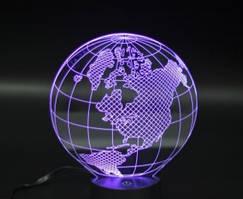 Светильник 3D Глобус