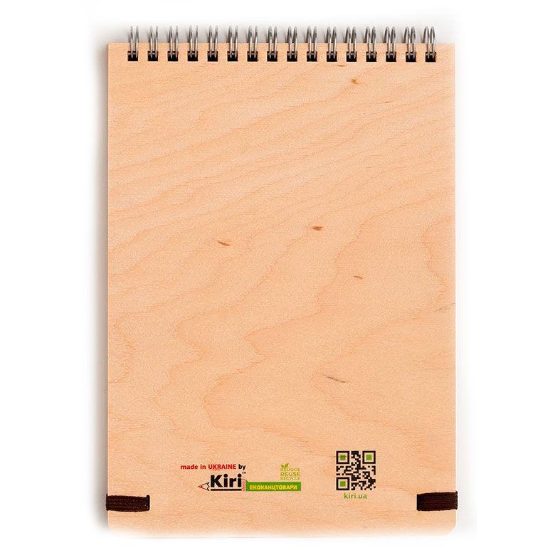 Блокнот для записей на пружине А5 70л. Kirisketch Дерево, Ворон 770563_в точку