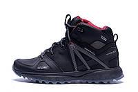 Мужские зимние кожаные ботинки Merrell Hyperlock Black (реплика)