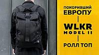 Роллтоп рюкзак городской WLKR спортивный мужской черный портфель сумка