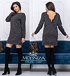 """Женское платье-туника миди свободного кроя с открытой спинкой """"Angelina"""" Распродажа, фото 7"""
