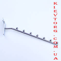 Кронштейн (флейта) для экономпанели экспопанели для торгового магазина хромированный на 7 шариков