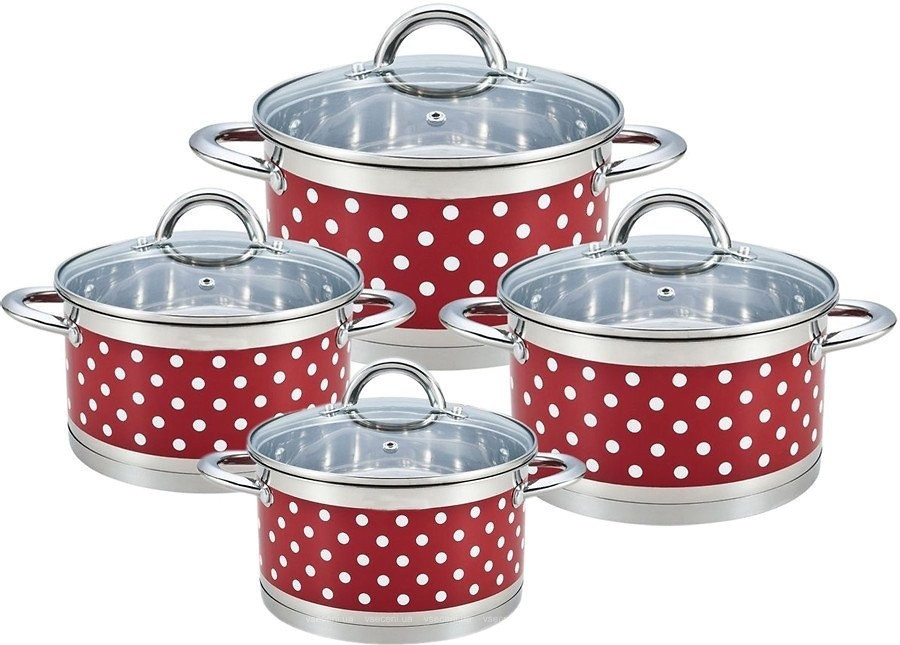 Набор Кухонной посудыBohmann BH 0127-08 Red,8 предметов