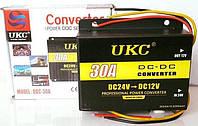 Понижающий преобразователь (инвертор) DC/DC 24В-12В UKC DDC-30A