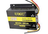 Понижающий преобразователь (инвертор) DC/DC 24В-12В UKC DDC-20A