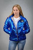 Женская демисезонная куртка с капюшоном VIK 42 Синий V6110542, КОД: 727039