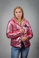 Женская демисезонная куртка с капюшоном VIK 46 Розовый V6110146, КОД: 727061