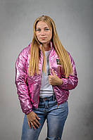 Женская демисезонная куртка с капюшоном VIK 48 Розовый V6100248, КОД: 727083