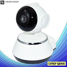 IP камера видеонаблюдения V380-Q6 - Поворотная панорамная сетевая IP-камера WIFI 360 градусов, фото 3