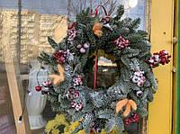 Венки новогодние из ели сорта NOBILIS