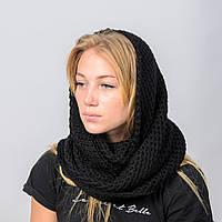 Вязанный снуд-хомут Ажур Nord Черный wsnazh17, КОД: 390865
