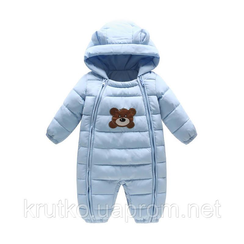 Комбинезон демисезонный детский Тедди, голубой Berni