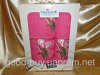 Комплект полотенец Yagmur махра - салфетка + лицо + баня Турция н6 -1