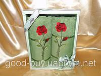 Комплект полотенец Febo роза махра - 2 лицо Турция t62 -1