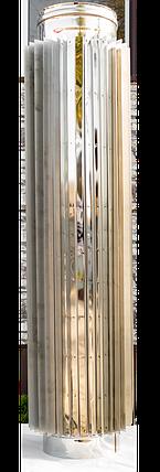Труба радиатор дымоходная L 1000 мм нерж стенка 0,8 мм 220, фото 2
