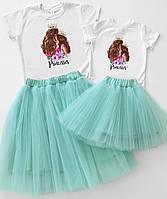 """Нарядные наборы для мамы и дочки family look """"princess"""" Family look"""