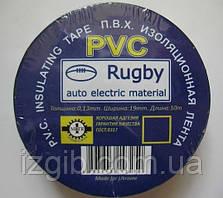 Изолента ПВХ Rugby 19мм*10 м, черная