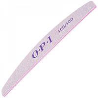 Пилка для ногтей OPI 100/100, лодка, серая