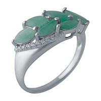 Серебряное кольцо  с натуральным изумрудом , фото 1