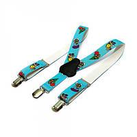 Детские Подтяжки Gofin suspenders С Черепашками Голубые Pbd-15003, КОД: 389963