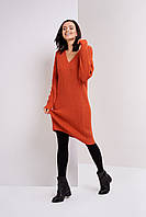 Женское вязаное платье  Stimma Мелания 4554 Xs Кирпичный